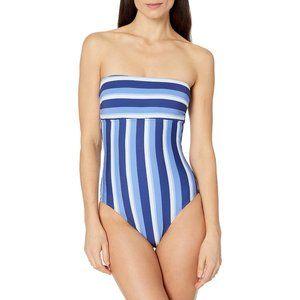 Splendid Parallel Bandeau One-Piece Swimsuit S